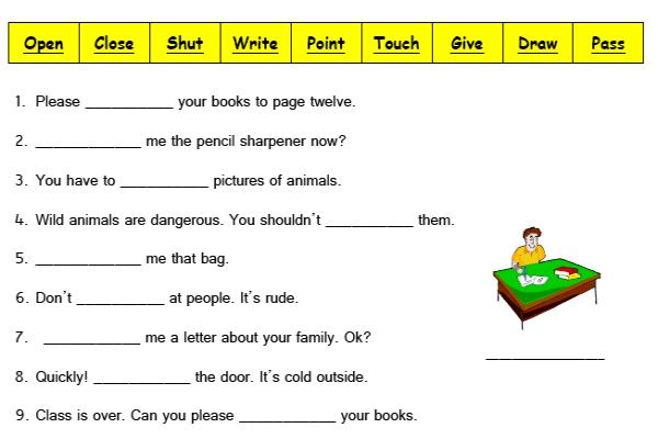 Imperative Sentence Worksheets | ABITLIKETHIS
