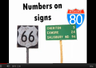 Song: Numbers all around | Recurso educativo 50293