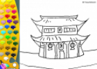 ¡A Colorear!: Templo japonés | Recurso educativo 27498