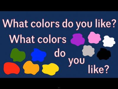 What Colors Do You Like Recurso Educativo 120847 Tiching